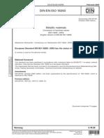 Convertion of Hardness Values DIN en ISO 18265