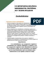 Funciones e Importancia Biológica de Los Carbohidratos