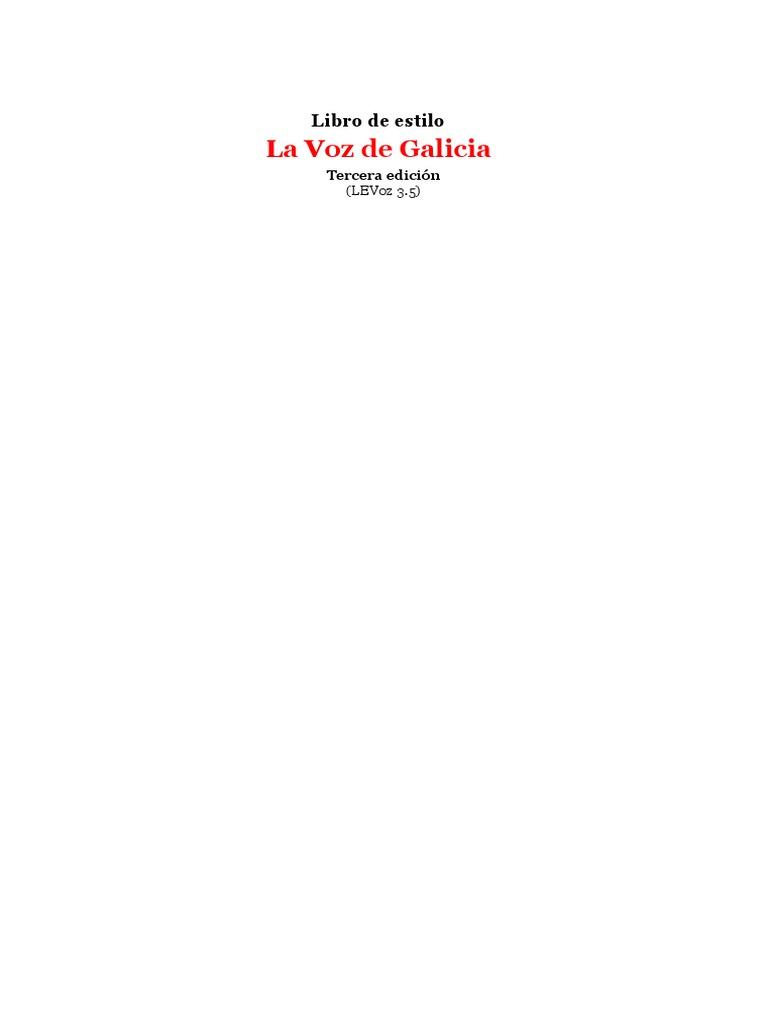 Libro estilo voz Galicia