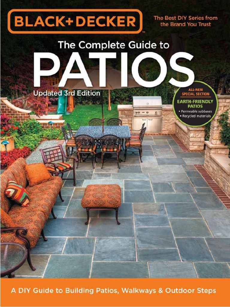Black Amp Decker Complete Guide To Patios Drainage Tile
