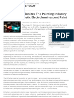 LitCoat Revolutionizes The Painting Industry With Paramagnetic Electroluminescent Paint