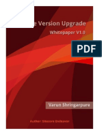 Sitecore Version Upgrade Whitepaper V1.0