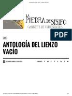 Antología Del Lienzo Vacío