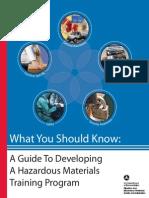 Guide Developing Hazardous Materials Training Program