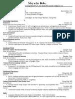 mayanka babu resume 2014
