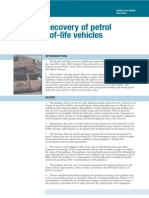 The Safe Recovery of Petrol from End of Life Vehicles