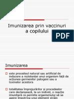 Imunizarea Prin Vaccinuri a Copilului
