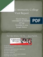 cochise community college visit report