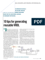 10 Tips for Generating Reusable VHDL