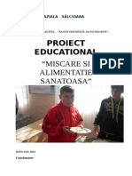 Proiect-miscare Si Alimentatie Sanatoasa