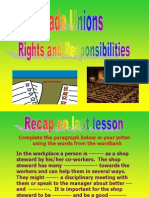 5. Rights and Responsibilities of trade union