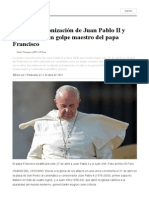 La Doble Canonización de Juan Pablo II y Juan XXIII, Un Golpe Maestro Del Papa Francisco _ ElFaro