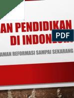Makalah Sistem Pendidikan Jaman Reformasi Di Indonesia