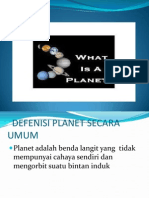 Defenisi Planet