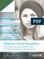Les Enfants de La Récession