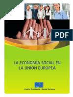La Economia Social en La Unión Europea