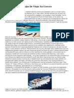Ventajas Y Desventajas De Viajar En Crucero