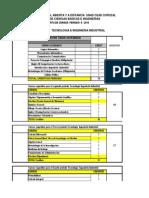 Materias o Cursos de Algunas Ingenierias(1) PENSUM