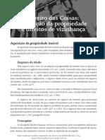 Aquisição Da Propriedade e Direitos de Vizinhança