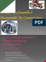 Manual Para Ensamble Y Desensamble de Computadores