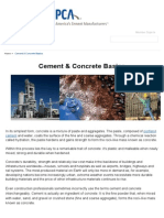 Cement & Concrete Basics