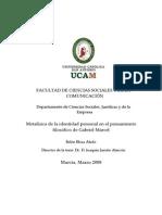 METAFÍSICA DE LA IDENTIDAD PERSONAL EN EL PENSAMIENTO FILOSÓFICO DE GABRIEL MARCEL