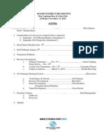 November 13, 2014 Meeting Information