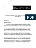 Clinton Allen May Be Alive Today if Dallas Police Had Done What They Promised to Do
