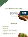 Social Entrepreneurship Final