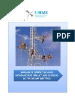 Anexo Res. 019-2014-CDAH-P - Perfil Montajista de Estructuras de Línea de Transmisión Eléctrica