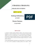 Programa de Governo Rollemberg Simplificado - Educação