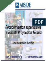 2010proyeccion-3 Recubrimientos Superficiales Por Proyecc Termica
