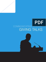 Communicating Science  Giving Talks