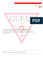 Proposed Buy Planning Assignment