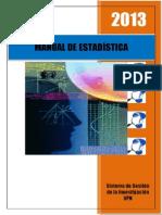 Manual de Estadística 2013