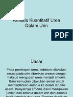 Analisis Kuantitatif Urea Dalam Urin