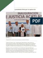 04-11-2014 Periódico Digital.mx - Felicita RMV Al Presidente Peña Por La Captura de Abarca