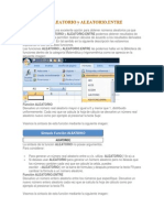 Funcion Excel Aleatorio y Aleatorio