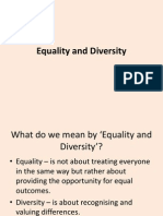 Equality and Diversity1