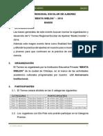 Bases V Torneo Regional Escolar de Ajedrez BEATA IMELDA 2014