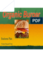 organic burger presentation