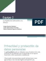 La Legislación Informática de México