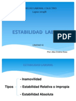 Estabilidad Laboral.unidad II.lottT.2014