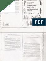 Reflexiones Sobre Construcción Social.