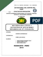 RECURSOS EDUCATIVOS  Y TECNOLÓGICOS