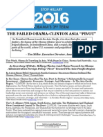"THE FAILED OBAMA- CLINTON ASIA ""PIVOT"""
