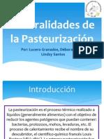Generalidades de La Pasteurización