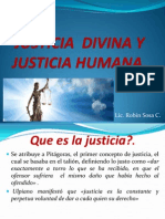 Justicia Divina y Justicia Humana