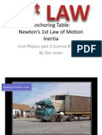 anchoring table law of inertia