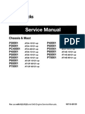 CAT Lift Trucks Service Manual | Battery (Electricity) | Relay